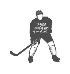 Hockey motivational quotes vector