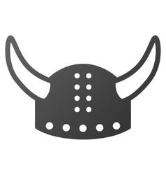 Horned helmet gradient icon vector