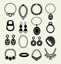 Jewellery set women accessories vector