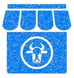 Livestock farm icon grunge watermark vector