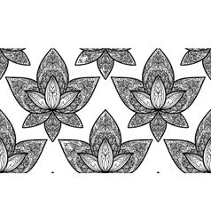 Lotus seamless pattern vector