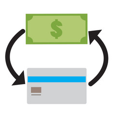 money icon on white background credit card and vector image vector image