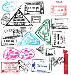 Passport stamps vector