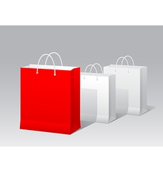 Promotional paper bag vector image vector image
