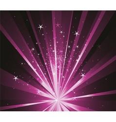 Purple stars background vector