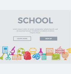 School concept header vector