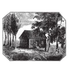 School house in grays ferry or wilsons vector