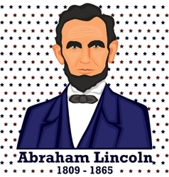 Silhouette abraham lincoln vector