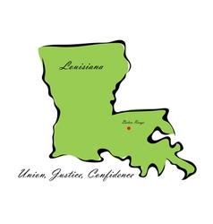 State of Louisiana vector image
