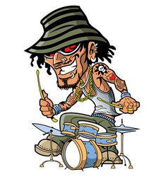 Tattoo Drummer vector image