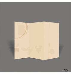 Vintage blank paper brochure mockup vector