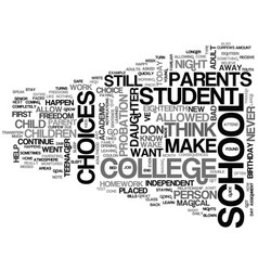 When your child turns eighteen text word cloud vector