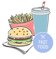 With fast food vector
