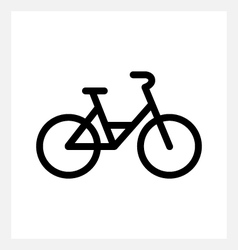 City bike icon vector