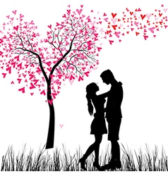 couple tree vector image