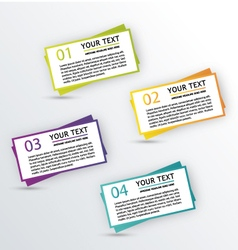 Infographic textbox vector