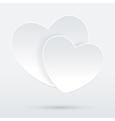 Heart on white vector