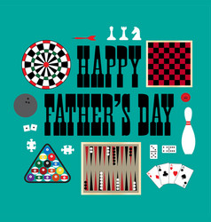Happy fathers day games vector