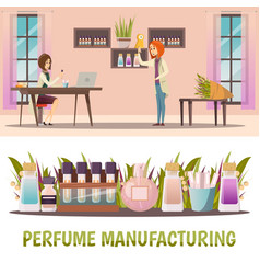 Perfume shop banner set vector