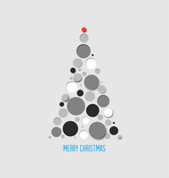 Absract christmas tree card vector