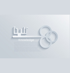 modern light key to knowledge background vector image