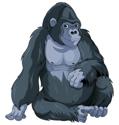 Sitting gorilla vector