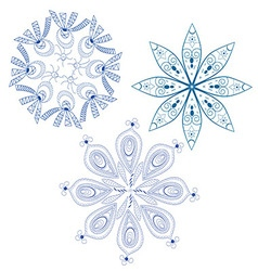 Blue abstract snowflakes vector