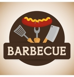 Bbq and butchery theme vector