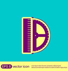 Ruler and protractor characters geometry vector