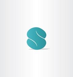 Turquoise logo letter s logotype icon vector
