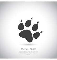 Cat paw print icon vector