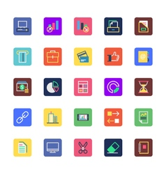Businessoffice and marketing colored icon6 vector