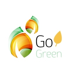 Go green nature concept vector