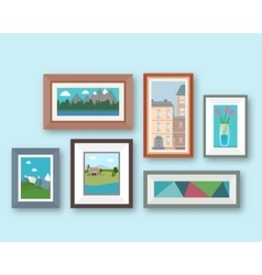 Pictures gallery vector