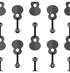 Guitar silhouette seamless background vector