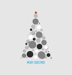 absract christmas tree card vector image