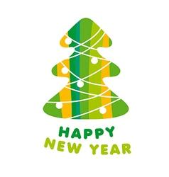Abstract logo christmas tree vector