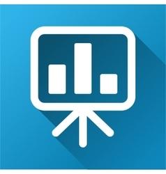 Bar chart presentation board gradient square icon vector