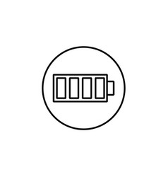 Battery line icon mobile sign and charging vector