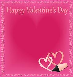 Beautiful happy valentines day vector
