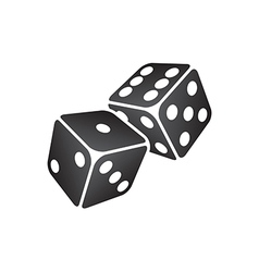 Black dice vector