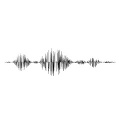 Black sound waves vector