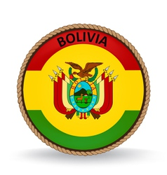 Bolivia seal vector