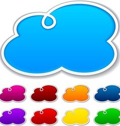 Cloudscape notification paper shapes vector