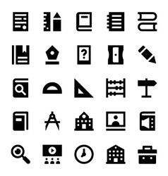 Education and School Icons 1 vector image