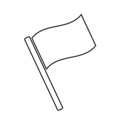 Flag icon flat design vector