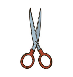 haircut scissors vector image vector image