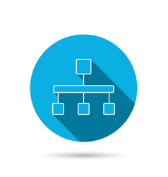 Hierarchy icon organization chart sign vector
