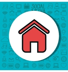 Home house silhouette isolated icon vector