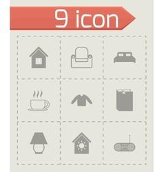 homey icon set vector image vector image